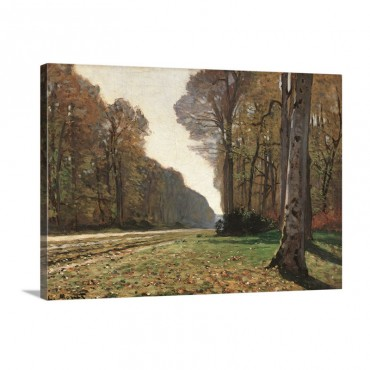 Road To Chailly By Claude Monet Ca 1865 Musee D'Orsay Paris France Wall Art - Canvas - Gallery Wrap