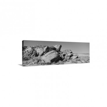 Rock Formations On A Landscape Fish Rocks Near Ridgecrest Along Highway 178 California Wall Art - Canvas - Gallery Wrap