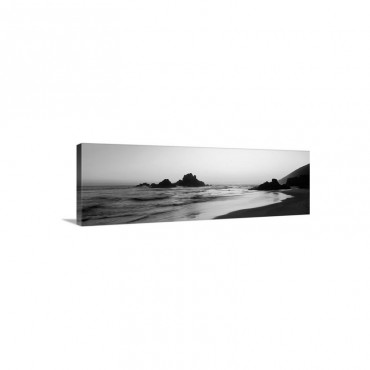 Rock Formations On The Beach Pfeiffer Big Sur State Beach Big Sur California Wall Art - Canvas - Gallery Wrap