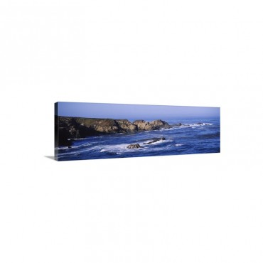 Rock Formations On The Coast Big Sur Garrapata State Beach Monterey Coast California Wall Art - Canvas - Gallery Wrap