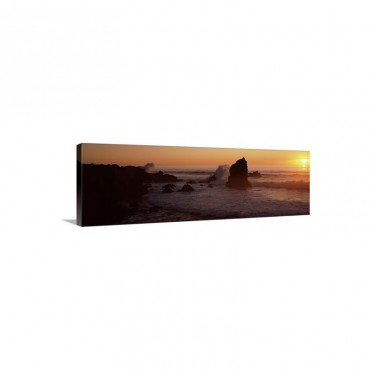 Rocks In The Sea California Wall Art - Canvas - Gallery Wrap