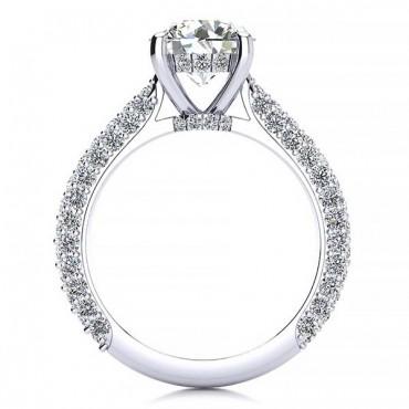 Rosemary Moissanite Ring - White Gold