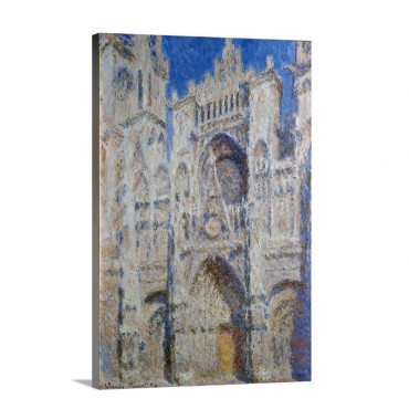 Rouen Cathedral The Portal Sunlight Wall Art - Canvas - Gallery Wrap