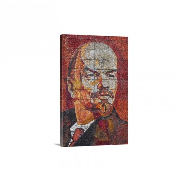 Russia Black Sea Coast Riviera Park Revolutionary Mosaic Of Vladimir Lenin Wall Art - Canvas - Gallery Wrap