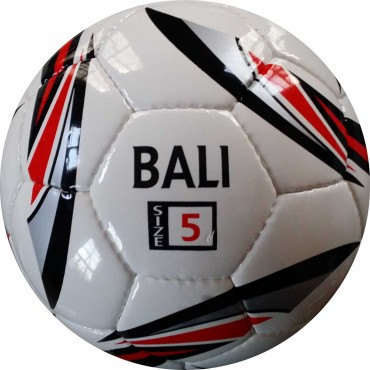 Perrini Bali White/ Black Indoor Outdoor Sports Soccer Training Ball Size 5