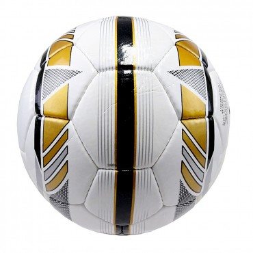 Perrini Premier Plus Indoor Outdoor Sports White Gold Silver Soccer Ball Size 5
