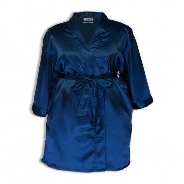 Womens Satin Robe - Side Pocket