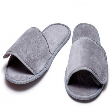 Terry Slippers with Velcro Closure