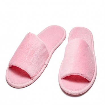 Open Toe Terry Slippers