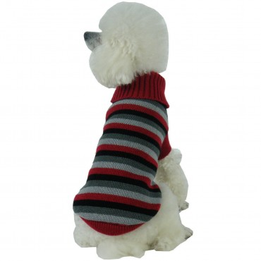 Polo-Casual Lounge Cable Knit Designer Turtle Neck Dog Sweater