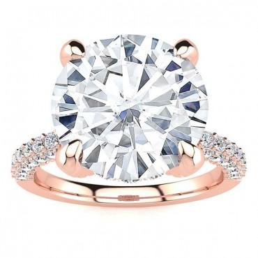 Sabina Moissanite Ring - Rose Gold