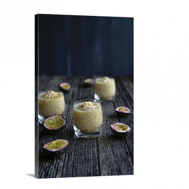 Sago Pudding With Passionfruit Wall Art - Canvas - Gallery Wrap