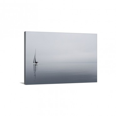 Sailboat In Sea Wall Art - Canvas - Gallery Wrap
