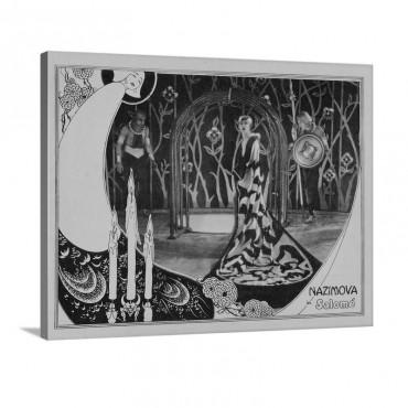 Salome Lobbycard Alla Nazimova Costumes And Art Direction By Natasha Rambova 1922 Wall Art - Canvas - Gallery Wrap