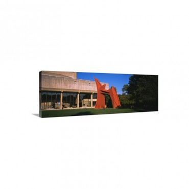 Sculpture In Front Of A University Building Indiana University Bloomington Monroe County Indiana Wall Art - Canvas - Gallery Wrap