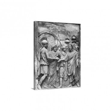 Sculpture Of Claudius And Company Wall Art - Canvas - Gallery Wrap