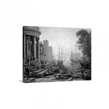Seaport With The Embarkation Of St Ursula Wall Art - Canvas - Gallery Wrap