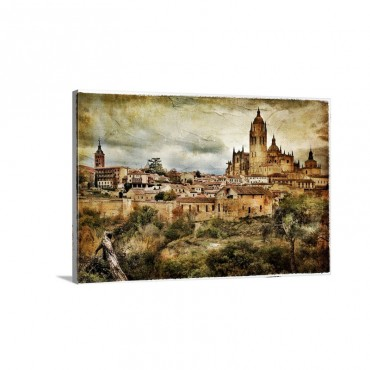 Segovia Medieval City In Spain Wall Art - Canvas - Gallery Wrap