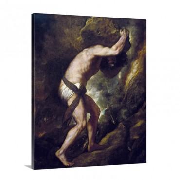 Sisyphus 1548 49 By Titian Prado Museum Madrid Spain Wall Art - Canvas - Gallery Wrap