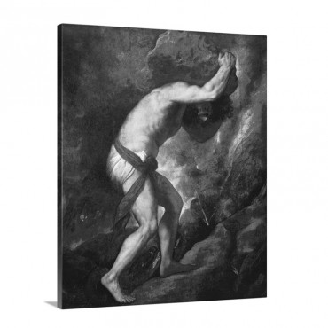 Sisyphus 1548 49 By Titian Prado Museum Madrid Spain Wall Art - Canvas - Gallery Wrap