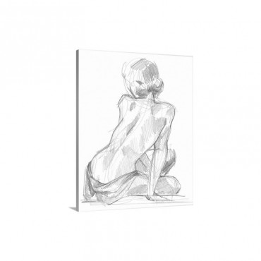 Sitting Pose I I Wall Art - Canvas - Gallery Wrap