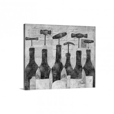 Six Bottles Wall Art - Canvas - Gallery Wrap