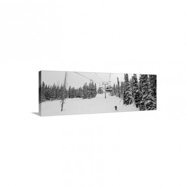 Ski Lift Passing Over A Snow Covered Landscape Keystone Resort Keystone Summit County Colorado Wall Art - Canvas - Gallery Wrap