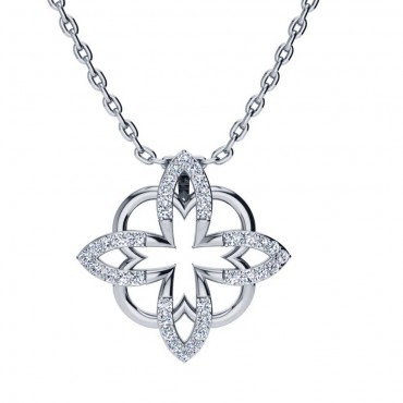 Sofia Diamond Pendant - White Gold