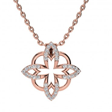Sofia Diamond Pendant - Rose Gold