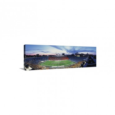 Soldier Field Football Chicago IL Wall Art - Canvas - Gallery Wrap