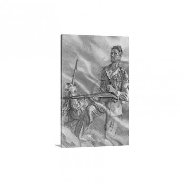 Spanish Civil War 1936 1939 Soldiers At The Front Near Madrid Wall Art - Canvas - Gallery Wrap