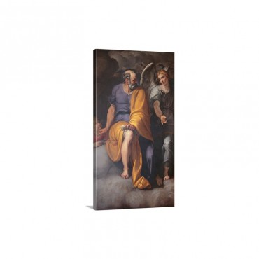 St Matthew And The Angel By Giovanni Ambrogio Figino C1586 1588 Milan Italy Wall Art - Canvas - Gallery Wrap