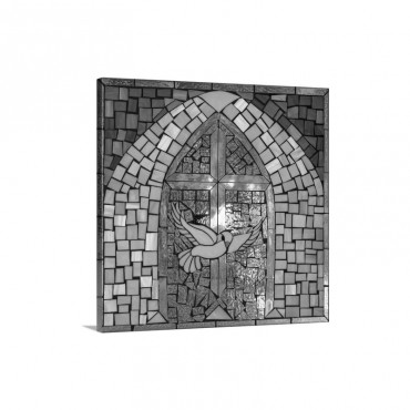 Stained Glass Cross V Wall Art - Canvas - Gallery Wrap