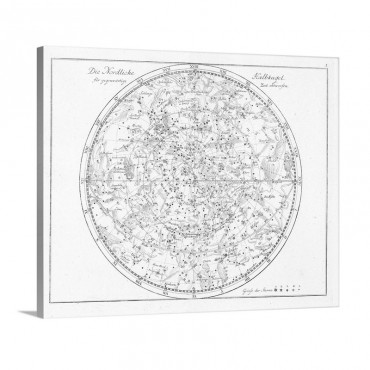 Star Map 1805 Wall Art - Canvas - Gallery Wrap