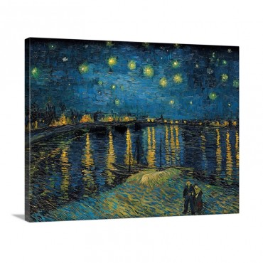 Starry Night By Vincent Van Gogh 1888 Musee D'Orsay Paris France Wall Art - Canvas - Gallery Wrap