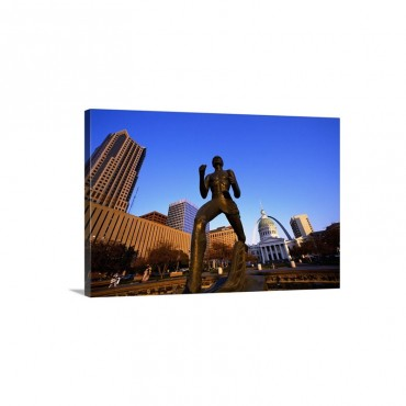 Statue Near Old Courthouse St Louis MO Wall Art - Canvas - Gallery Wrap