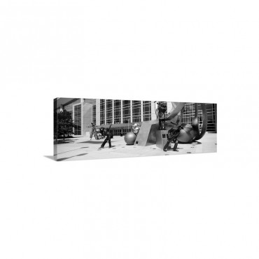 Statues At A Convention Center Qwest Convention Center Omaha Nebraska Wall Art - Canvas - Gallery Wrap