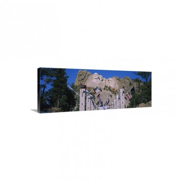 Statues On A Mountain Mt Rushmore Mt Rushmore National Memorial South Dakota Wall Art - Canvas - Gallery Wrap