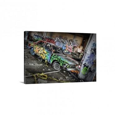 Street BMW Wall Art - Canvas - Gallery Wrap