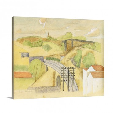 Study For The Meulan Viaduct Etude Pour Le Viaduc De Meulan 1912 Wall Art - Canvas - Gallery Wrap