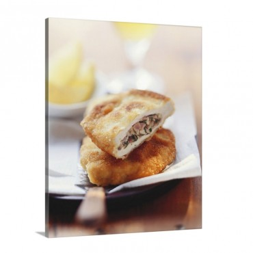 Stuffed Pork Escalope Munchner Schnitzel Wall Art - Canvas - Gallery Wrap
