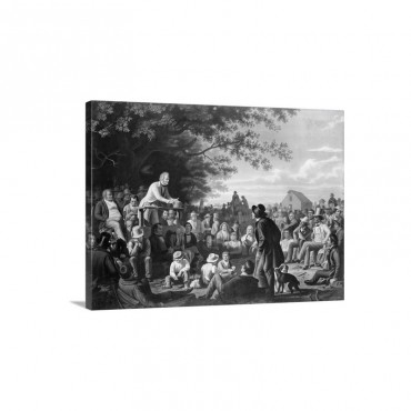 Stump Speaking To Townspeople Wall Art - Canvas - Gallery Wrap