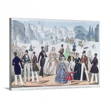 Summer Fashions For 1841 Outside Windsor Castle Wall Art - Canvas - Gallery Wrap