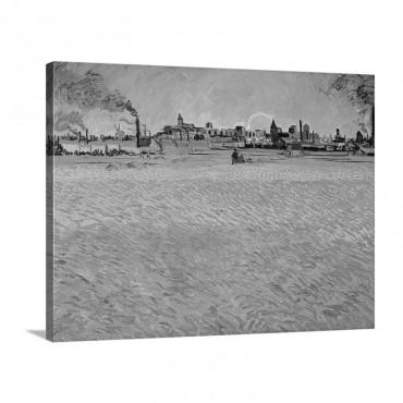 Summer Evening Wheat Field At Sunset 1888 Wall Art - Canvas - Gallery Wrap