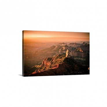 Sunrise Аt Point Imperial Grand Canyon North Rim Wall Art - Canvas - Gallery Wrap