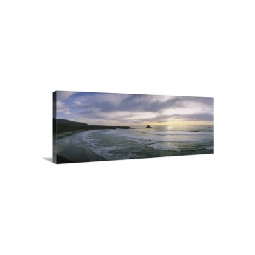 Sunset Over The Ocean Big Sur California Wall Art - Canvas - Gallery Wrap