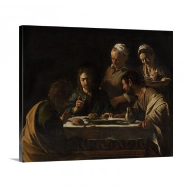 Supper At Emmaus By Caravaggio C 1606  Brera Art Gallery Milan Italy Wall Art - Canvas - Gallery Wrap