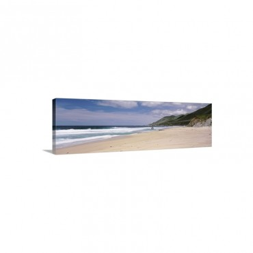 Surf On The Beach Pfeiffer Beach Big Sur California Wall Art - Canvas - Gallery Wrap