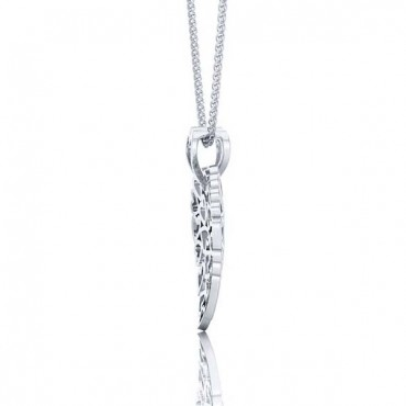 Suzie Heart Pendant - White Gold