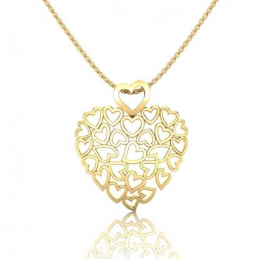 Suzie Heart Pendant - Yellow Gold